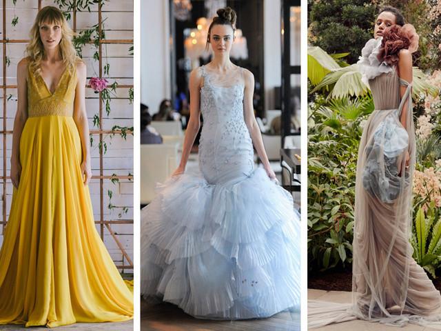 12 Gorgeous Colourful Wedding Dress Ideas