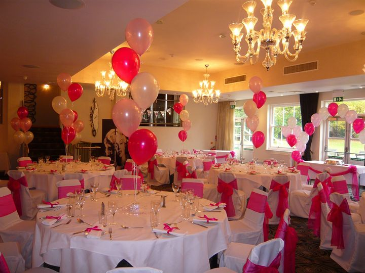 Pink themed Wedding Balloons
