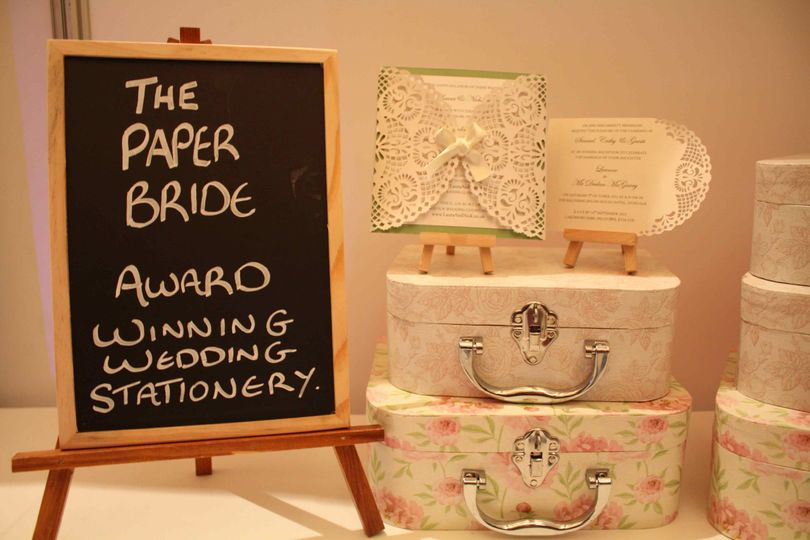 Award winning paper bride
