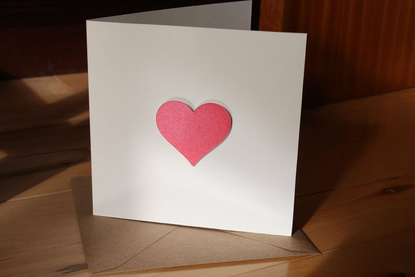 Laser cut heart card