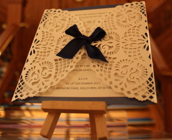 Award winning lace invitation