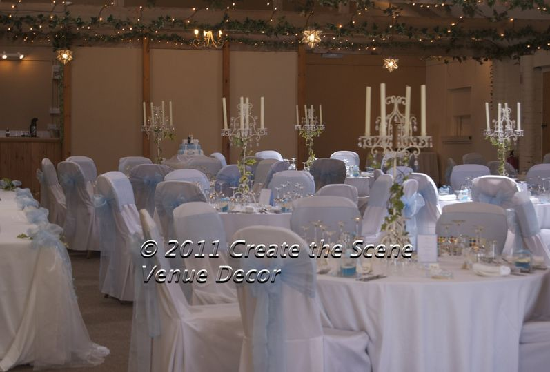 Luxury chair covers and Candelabra at Halstead