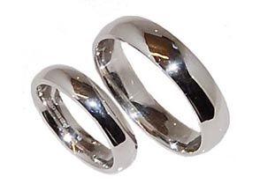 Palladium Plain Wedding Rings