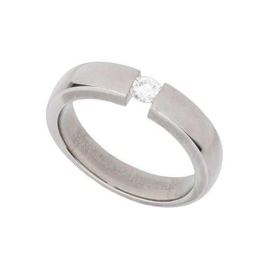 Titanium tension set ring