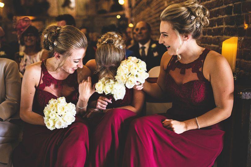 Bridesmaid elegant hair up