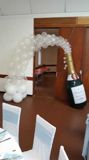 Champagne bottle arch
