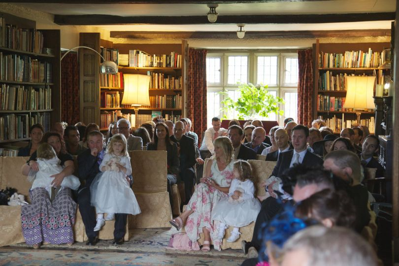 Wedding Guests in Our Historic Library