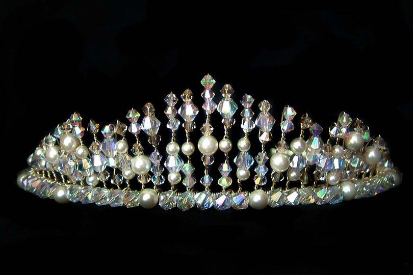 Ivory bridal tiara