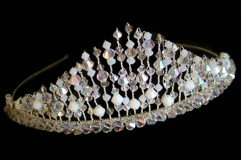 White tiara