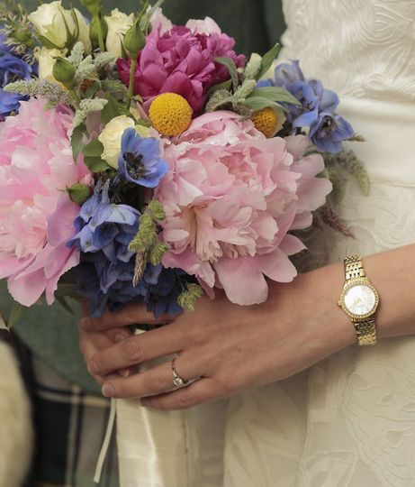Summer peony bridal bouquet