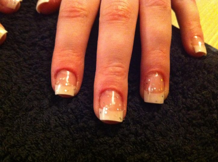Acrylic Nails with sparkles