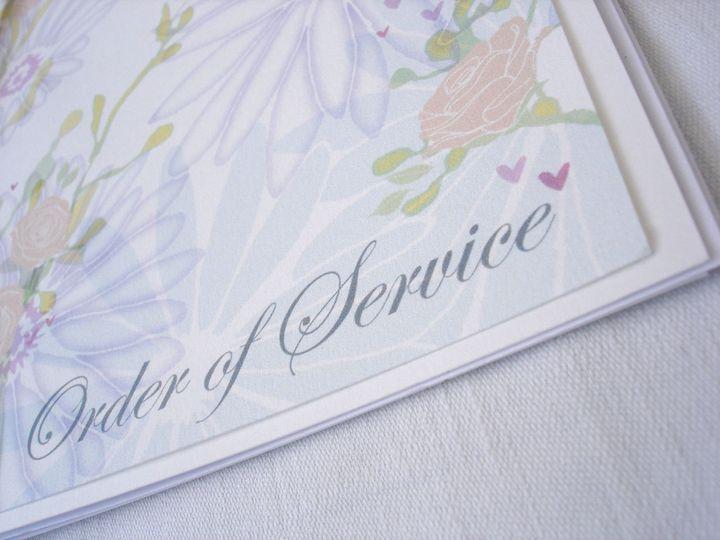 Summer Wedding Order of Service