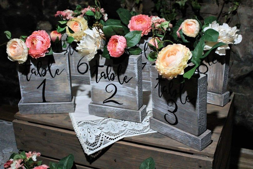 Table flower number