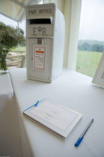 Wedding post box white