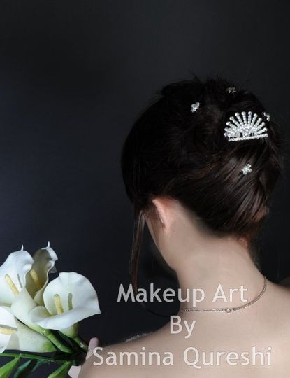 Bride in White with All hair up
