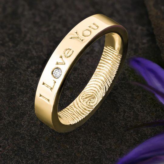 Diamond Fingerprint Ring
