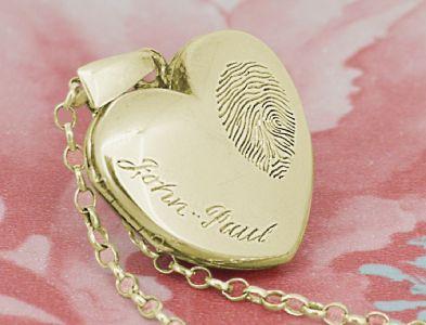 Gold fingerprint locket
