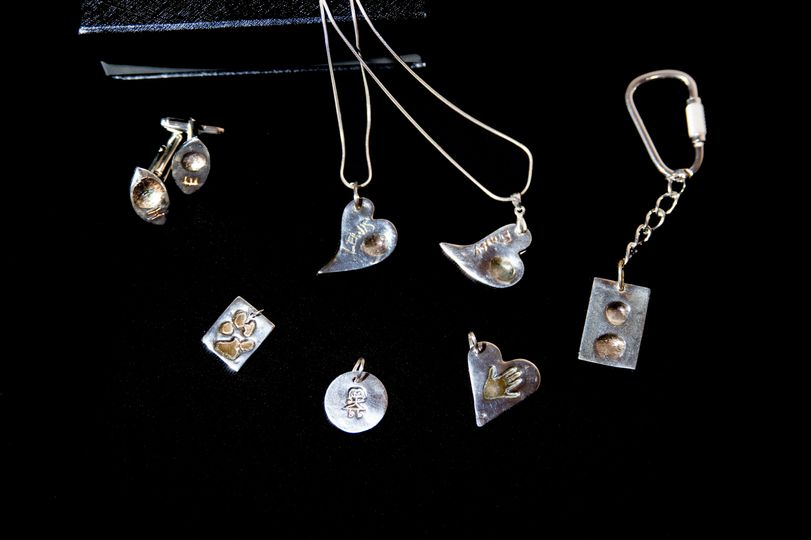 A range of Fingerprint Jewellery