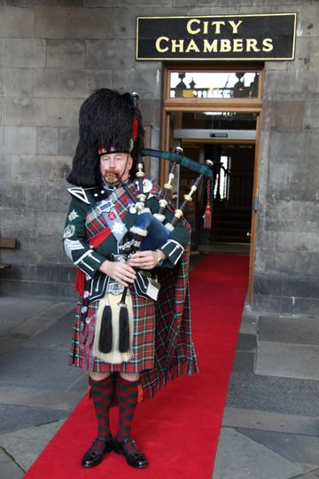 Piper at Main Entrance