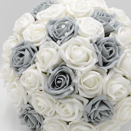 Grey & White Posy