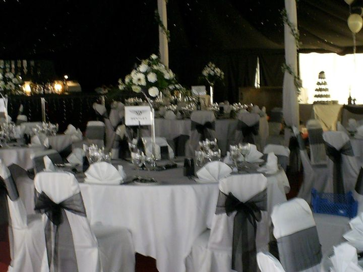 Wedding in the marquee