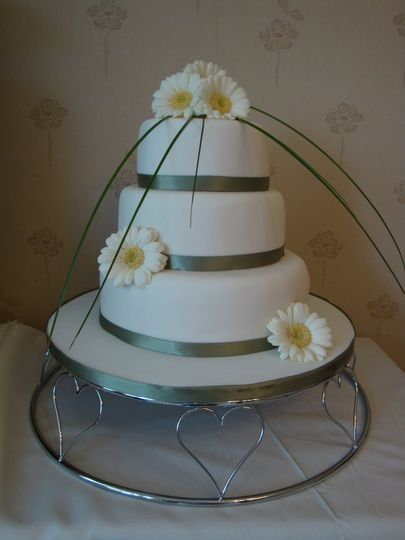 3 tier with fresh flowers
