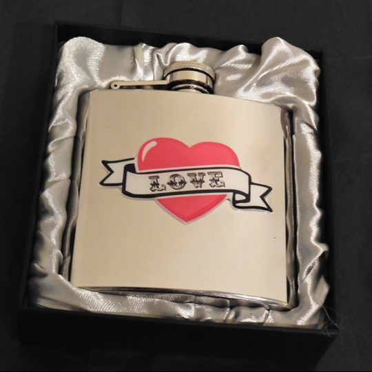 Love hipflask