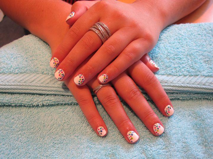 Carnival bridal nails