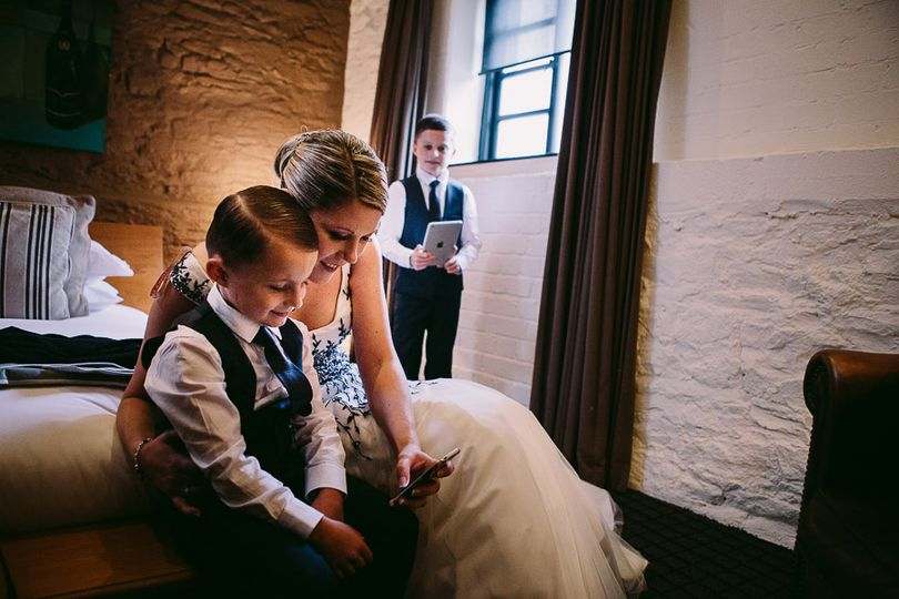 Bride and pageboys