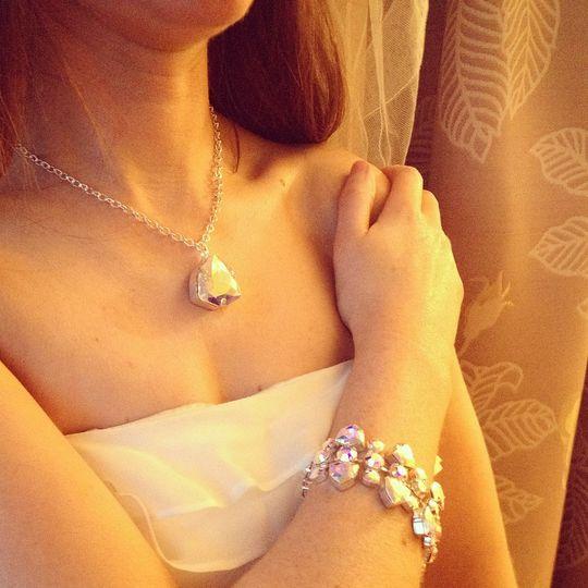 Trilliant necklace & bracelet