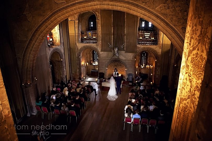 The ceremony at Hedingham