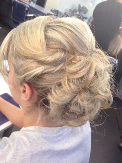 Engagement hair up