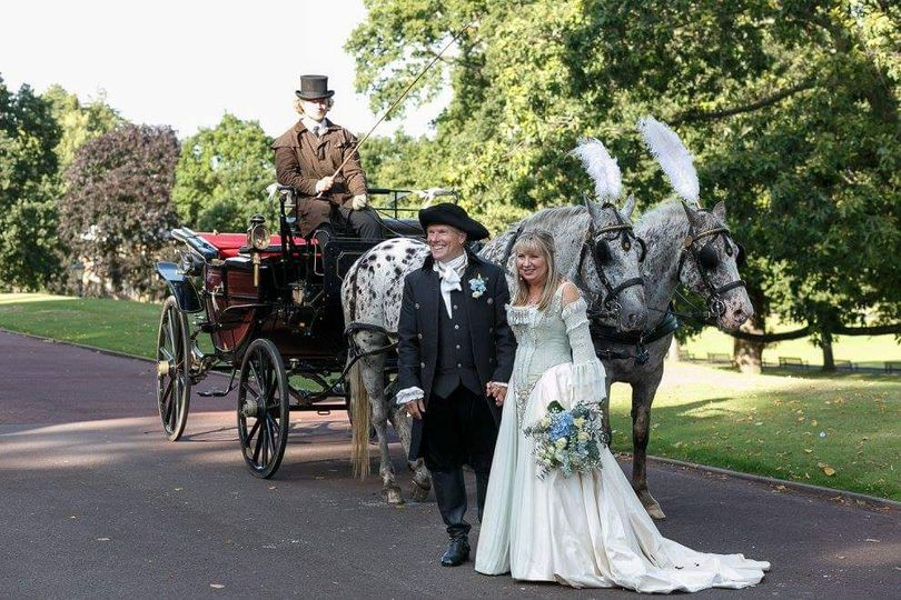 Themed Horse and Carriage