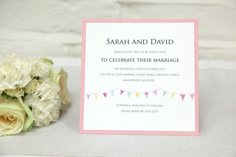 Festoon wedding invitation