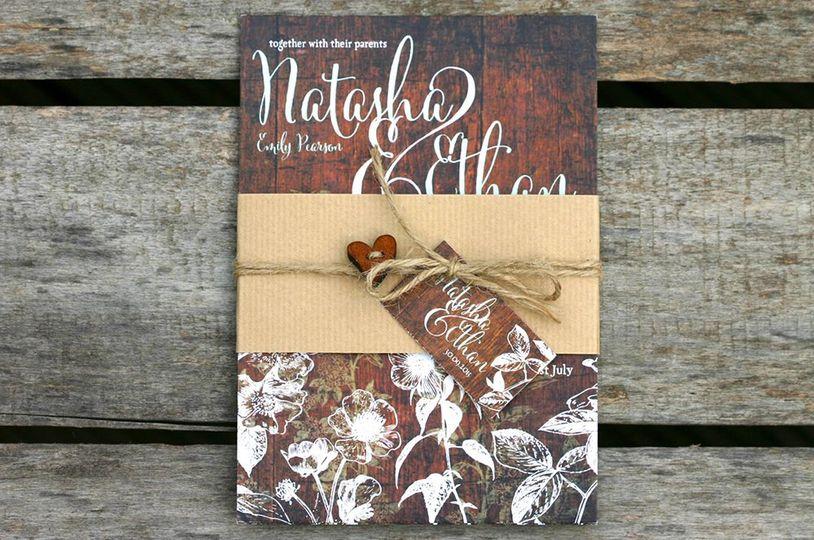Hedgerow wedding invitation