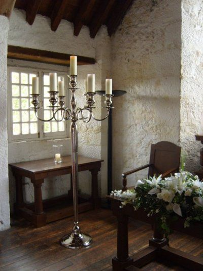 7ft Candelabra with Battery Operated Candles