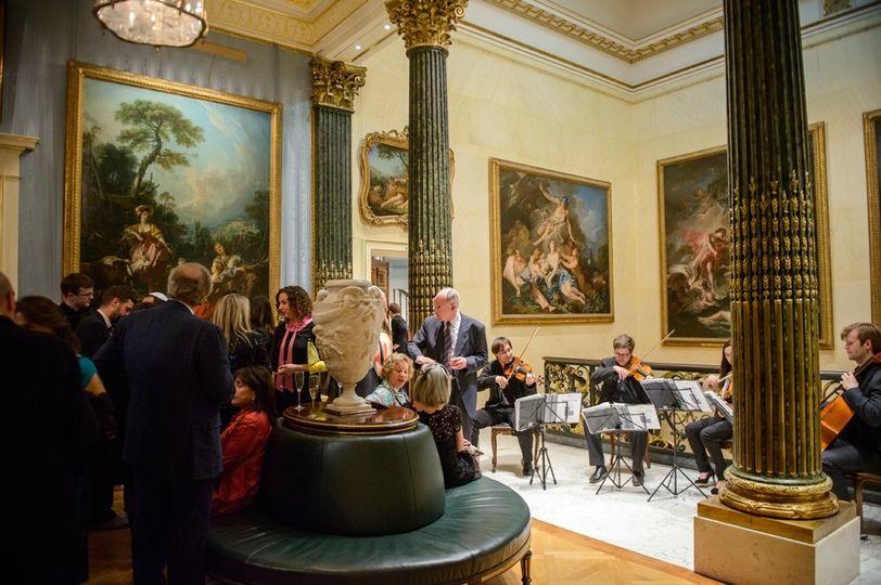 String quartet at reception