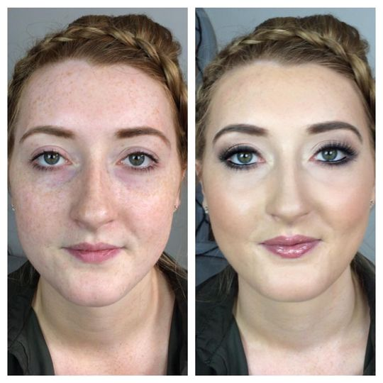 Before & after bridesmaid