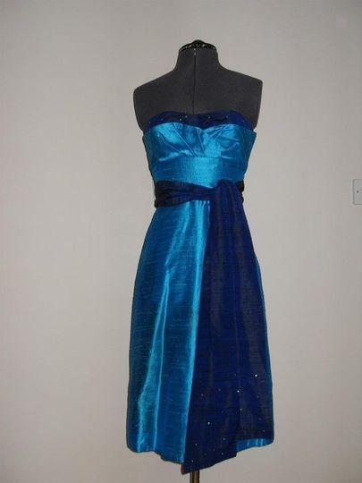 Silk Dupion dress with sash