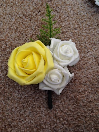Yellow & Ivory Rose Corsage