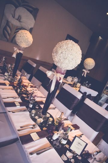 Rose Ball Table Centrepiece
