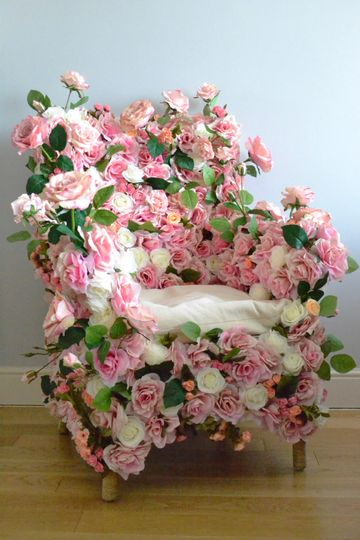 Floral armchair for hire