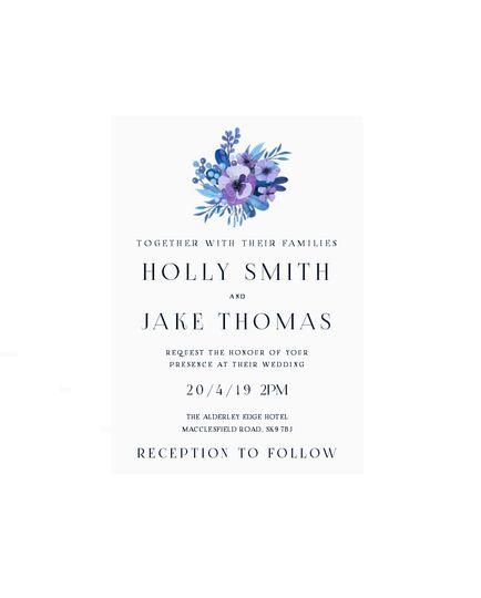 Contemporary Invitation