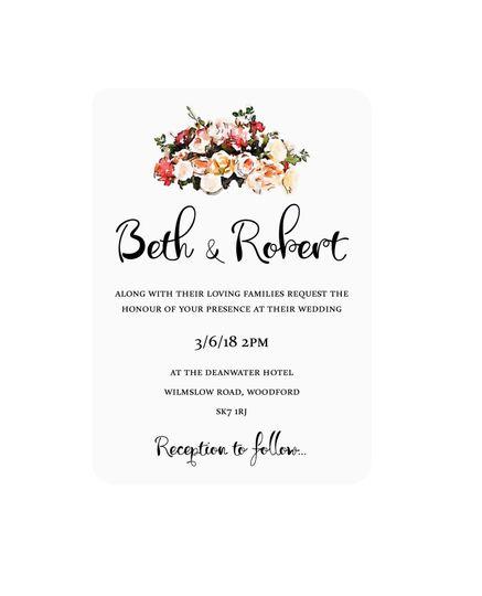 Floral Watercolour Invitation