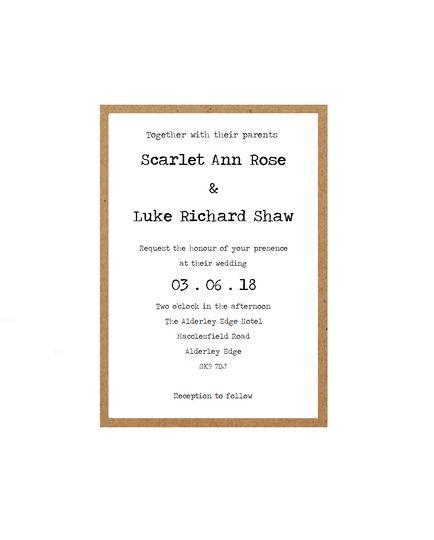 Rustic Typewriter Invitation