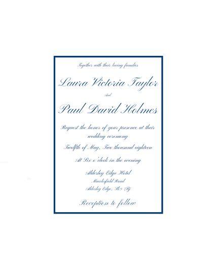 Traditional Blue Invitation