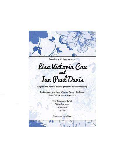 Vintage Blue Invitation