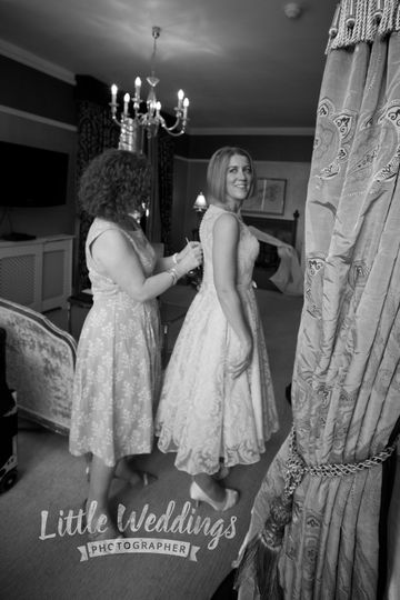 Bride getting ready photograph