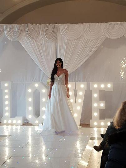 LED letters & backdrop