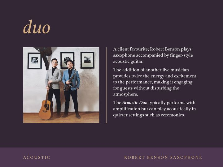 Duo - ACOUSTIC